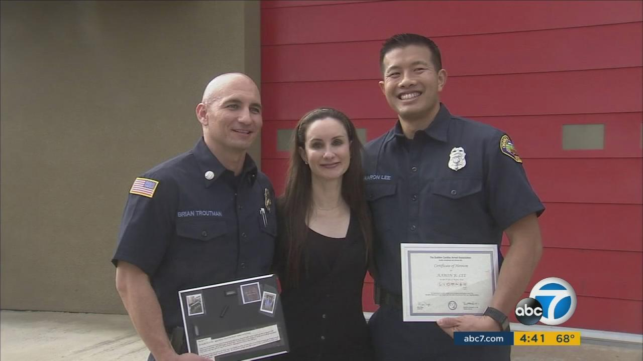 Cardiac arrest victim honors OC Fire Authority paramedics for saving her life