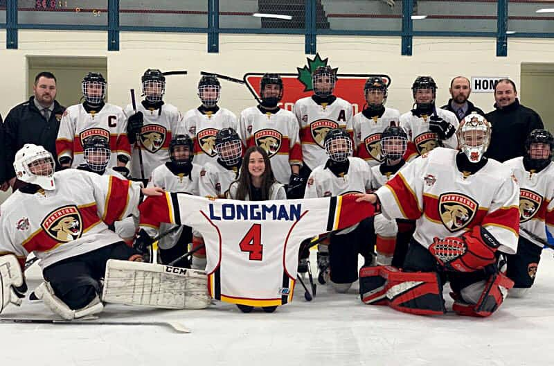 Brooke-Lynn Longman with Hockey Central Panthers.